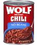 Wolf No Beans Plain Chili, 40 OZ