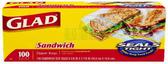 Glad sandwich size ziplocks-100ct