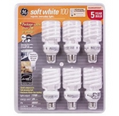 GE Soft White 26 Watt Light Bulbs