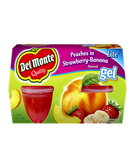 Del Monte - Peaches in Strawberry Banana Gel -4ct