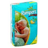 Pampers Baby Dry Diapers Size 1 - 50 pk