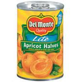 Delmonte Apricot Halves Lite - 15.25 oz