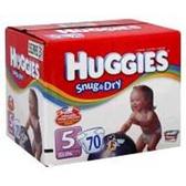 Huggies Snug N Dry Diapers Size 5 - 120 pk