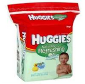 Huggies Baby Wipes Naturally Refreshing Refill Pop Up