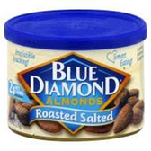 Blue Diamond Roasted Salted Almonds - 16oz