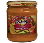 Tostitos Salsa Zesty Bean Cheese Medium -15 oz