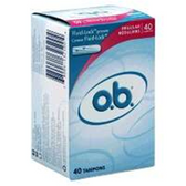 Johnson and Johnson O.B. Regular Tampons - 40 Count