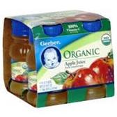 Gerber Organic Apple Juice - 4 - 4 fl. Oz