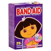 Band Aid Brand Dora The Explorer Adhesive Bandages - 25 Count
