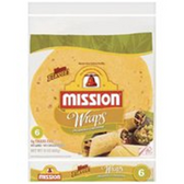Mission Jalapeno Cheddar Flour Tortilla Wraps -6 ct