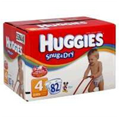 Huggies Snug N Dry Diapers Size 4 - 140 pk