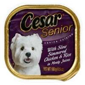 Cesar Senior Simmered Chicken And Rice Dog Food - 3.5 Oz