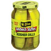 Mt Olive Bread & Butter Sweet Kosher Sandwich Stuffers-16 oz