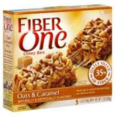 Fiber One Oats And Caramel Chewy Bars -5 pk