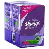 Always Dri-Liners Double Pack Long Unscented Pantiliner - 60 Ct