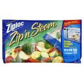 Ziploc Medium Zip N Steam Cooking Bags - 10 Count