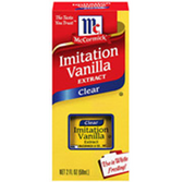 McCormick Pure Clear Imitation Vanilla Extract -1 oz