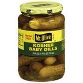 Mt Olive Kosher Baby Pickle Dills -16 oz