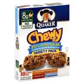 Quaker Chewy Reduced Sugar Variety Pack Granola Bars-10 pk