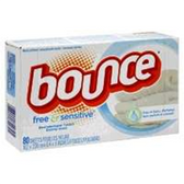 Bounce Fabric Softener Sheets Fragrance Free - 80 ct