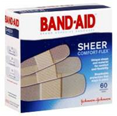 Johnson and Johnson Band Aid Sheer Assorted Bandages - 60 Count