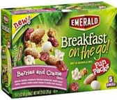 Emerald Breakfast On the Go Bars - Berries & Crème -5 pouches