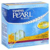 Tampax Pearl Plastic Regular Fresh Scent Tampons - 40 Count