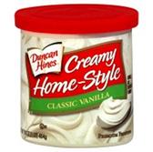 Duncan Hines Creamy Home-Style Classic Vanilla -16 oz