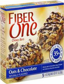 Fiber One Chewy Bars - Oats & Chocolate -5 bars