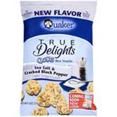 Quaker True Delight SeaSalt & Cracked BlackPepper Rice Cakes-6oz