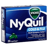 Vicks Nyquil Cold And Flu Remedy Liquid Capsules - 20 Count