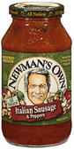 Newman's Own Italian Sausage & Peppers Pasta Sauce - 24 oz