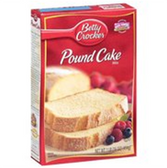 Betty Crocker Pound Cake Mix -18.25 oz