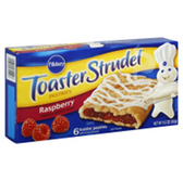 Pillsbury Toaster Strudel Pastries Raspberry -6 ct