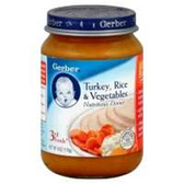 Gerber  Baby 3rd Food - Turkey, Rice & Vegetable