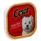 Cesar Canine Cuisine With Beef Meaty Juices - 3.5 Oz
