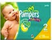Pamper's Baby Dry 12 - 28 lb. -42ct