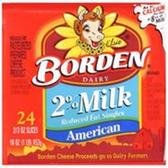 Borden 2% American Cheese Slices -8 ct