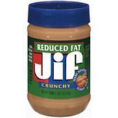 Jif  Reduced Fat Crunchy Peanut Butter -18 oz