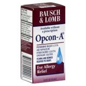 Bausch and Lomb Opcon A Itching And Redness Reliever Eye Drops -