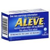 Aleve Naproxen Sodium Tablets - 24 Count