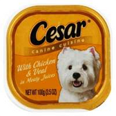 Cesar Select Chicken And Veal Dog Food - 3.5 Oz
