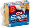 Kraft Singles Reduced Fat 2% Milk American Cheese Slices -16ct