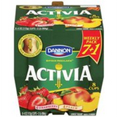 Dannion Activia Strawberry Banana & Peach Yogurt - 8 ct