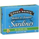 Crown Prince Skinless & Boneless Sardines in Olive Oil-3.75 oz