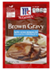 McCormick 30% Less Sodium Brown Gravy Mix, 0.87oz