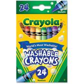 Crayola Washable Crayons - 24 Ct