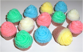 Assorted Color Mini Cupcakes - 6 ct