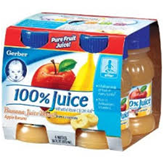 Gerber Organic Mixed Fruit Juice- 4/4oz