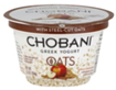 Chobani Oats Apple Cinnamon Greek Yogurt, 5.3 OZ